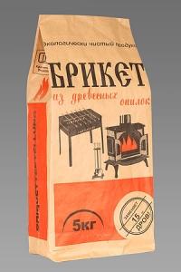 Пакет крафт: 5 кг. Пакет  бумажный открытый под уголь оптом.