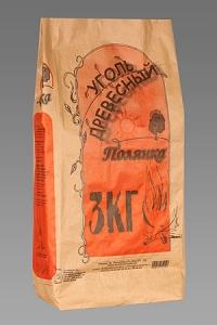 Пакеты крафт: 3 кг. Пакет для угля из крафт бумаги оптом.